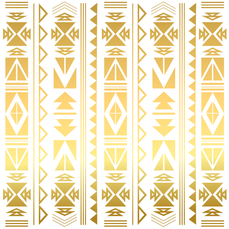 Flash tatto gold geometric ornament. Summer style. Aztec flash tattoo. Tribal gold abstract geometric elements. Vector illustration