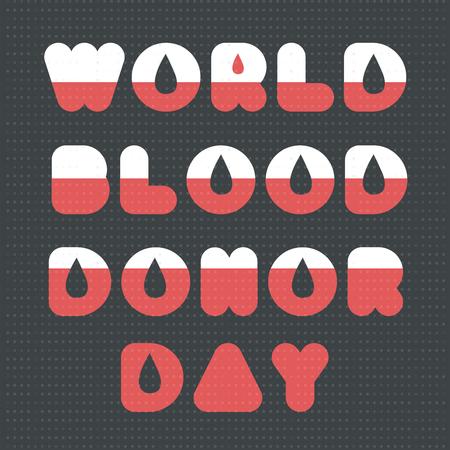 Hand getrokken modern poster of banner voor bloeddonor