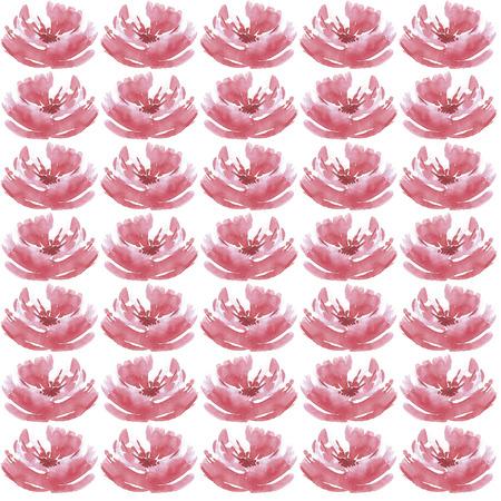 Hand getekend aquarel bloemenpatroon. Uitnodiging naar de bruiloft of achtergrond Stockfoto