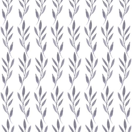 Hand getekend aquarel eucalyptus naadloze patroon. Kan worden gebruikt voor de uitnodiging voor de bruiloft of achtergrond