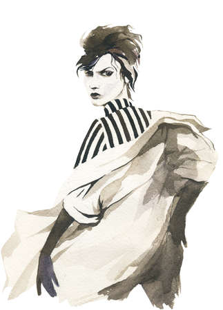 fashion design: fashion woman in coat
