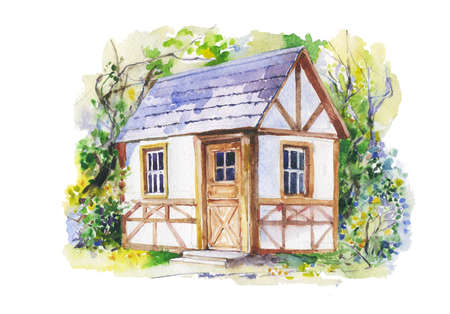 countryside: Countryside house in summer Stock Photo