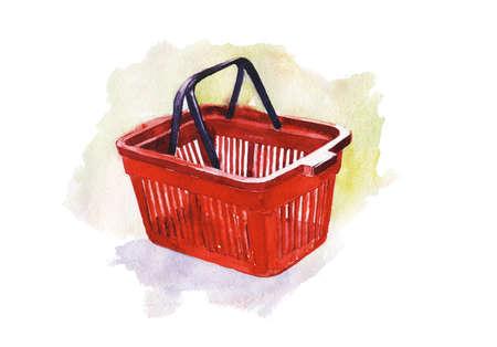 christmas golf: shopping cart Stock Photo