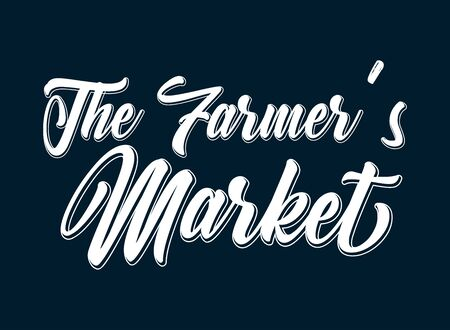 Hand sketchedThe Farmers Market quote. Lettering for poster, flyer, header, advertisement, announcement. 일러스트