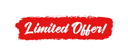 Hand sketched LIMITED OFFER as banner. Drawn commercial lettering for flyer, poster, label.