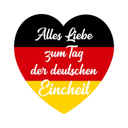 Vector hand drawn Alles Liebe zum Tag der deutschen Eincheit quote in German, translated All the Best to German Unity day. Lettering