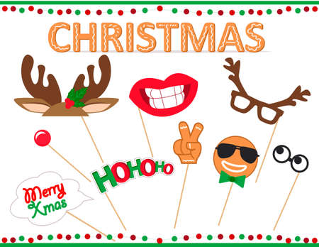 2019 Photo booth props for merry Christmas