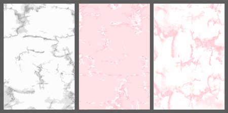 Marble vector cover. Pink, white and silver. Cute birthday background for wedding invitation card, princess birthday. Abstract vintage backdrop. Realistic trendy textured. Rose stone. Simple template
