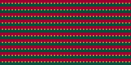 Christmas red green horizontal stripes with golden doodle points. Xmas cute bright seamless pattern. Classic minimal wine vector sale background. Candy cane striped texture. Modern trendy navidad
