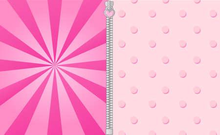 Leuke roze achtergrond met heldere balken. Lol pop verrassingsfeestje elementen van design. Vectorkader voor uitnodigingstekst. Douchekaart voor babymeisjes
