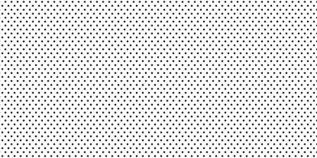 Seamless polka dots pattern. Black little circle points on white background. Lol doll style wallpaper.