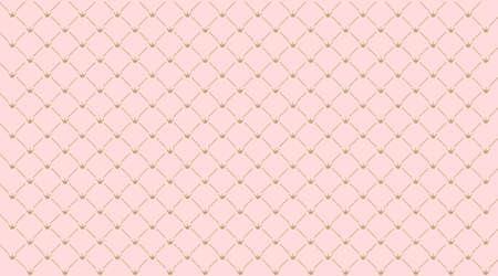 Seamless girlish pattern. Wedding crown on pink background.