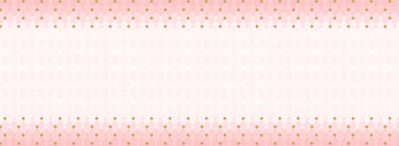 Cute abstract seamless pattern. Template for a banner, business card, invitation (little princess party) Girlish sweet pastel background. Trendy geometric wallpaper. Magic pink white with golden rhombus Çizim