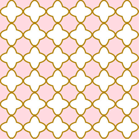 Gold and pink seamless patterns. Background for Little princess