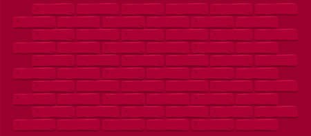 Dark red maroon brick wall texture. Cracked empty background. Grunge wallpaper. Vintage stonewall. Room of queen love design interior. Surface for decoration. Backdrop for cafe, store. Illustration Illustration