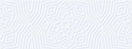 Abstract geometric white background. Meditation music design: mandala yoga flower. Scandinavian eco minimal style. Interior accent wall. DIY wooden decor - wide 3d DIY molded panels design. Mockup # 6