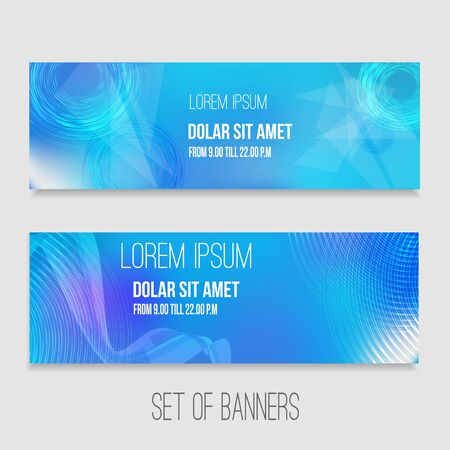 web elements: Vector set of abstract technology banners with modern background. EPS10.