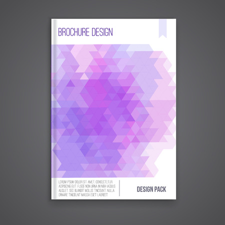 book cover: Vector brochure cover design template with abstract geometric shape, triangle background for your business. EPS10.