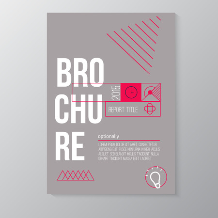 Vector moderno folleto, plantilla de diseño de la cubierta mínima con forma geométrica abstracta de colores para su negocio. EPS10.