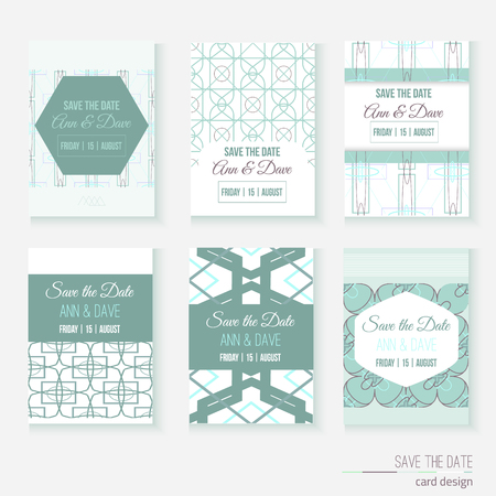 baby blue: Set of stylish multipurpose vector cards. Can be used for save the date, baby shower, banners, invitation, mothers, fathers day Illustration