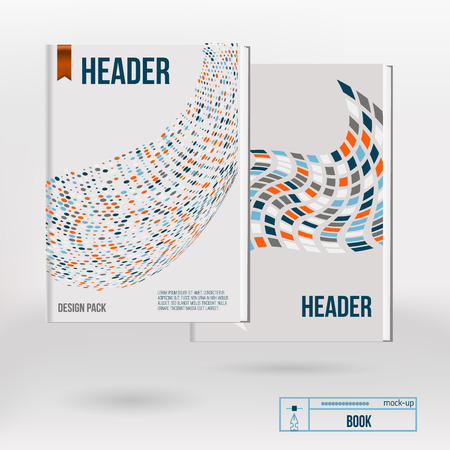 Vector brochure cover design templates with abstract geometric triangular and circle backgrounds for your business. EPS10.