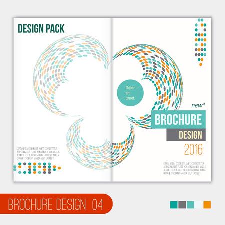 Vector moderne brochure ontwerpsjabloon met abstracte geometrische vorm in vlakke stijl voor uw bedrijf. EPS10