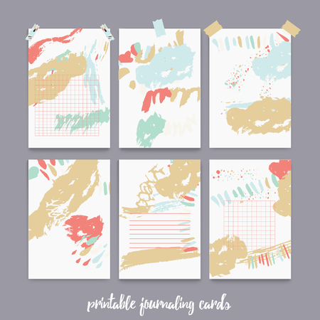 Set Of Printable Journaling Cards For Scrapbook Planner Diary