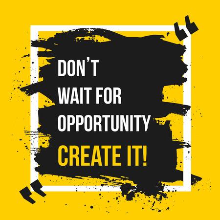 Le succès vient à ceux qui sont trop occupés à chercher. Motivation d'affaires Citation Design Concept. EPS10