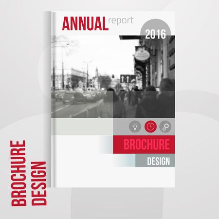 Vector couverture de la brochure modèle avec blured paysage de la ville. brochure d'affaires conception de la couverture, couverture de la brochure flyer, professionnelle couverture de la brochure d'entreprise.