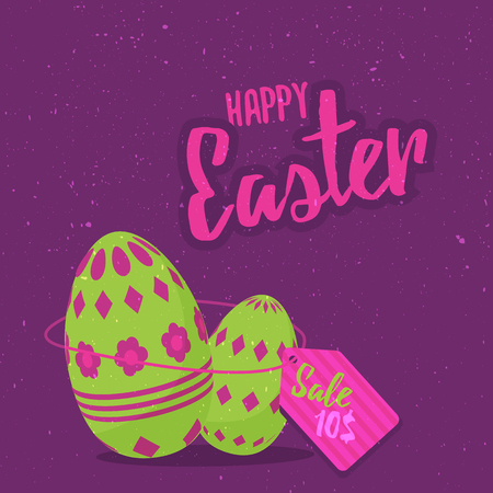 article marketing: Easter sale royalty free  illustration for greeting card, ad, promotion, easter poster, flier, blog, article, marketing, signage, brochure, icon