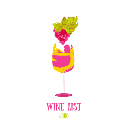 abstract food: Concept for wine products, harvest, wine list, menu Illustration