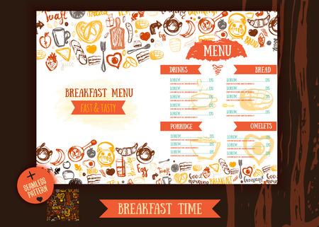cafe food: Cafe menu restaurant brochure. Food design template.