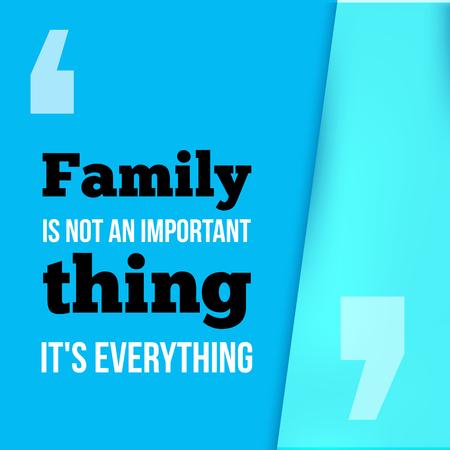 Familie is alles. Kan gebruikt worden voor inwijdingsfeest posters, wenskaarten, banners, thuis decorations.Vector illustratie Stock Illustratie