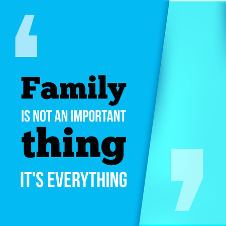 Family is everything. Can be used for housewarming posters, greeting cards, banners, home decorations.Vector illustration