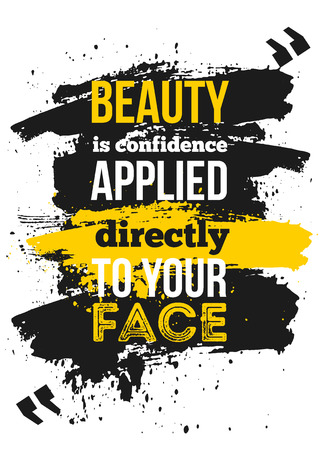 Motivational quote about confidence for your business Illustration