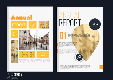 blank magazine: Vector brochure cover templates with blured city landscape. Business book cover design, flyer brochure cover, professional corporate identity style for presentations. A5