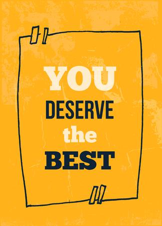 心に強く訴えるタイポグラフィ ポスター - あなたは最高に値する。