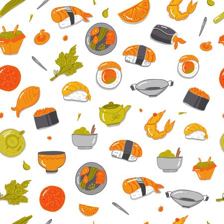 Sushi pattern design.