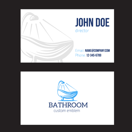Business card for plumbing service on white background vector design illustration