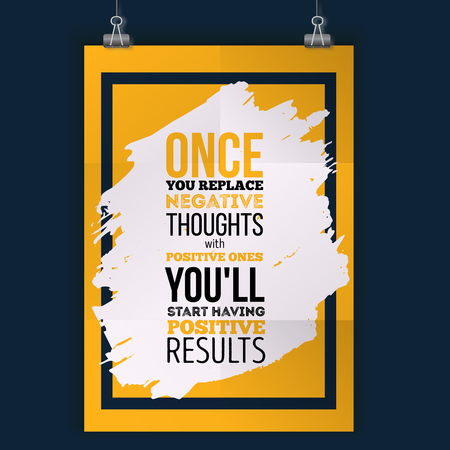 Inspirational motivational quote about results. Vector simple design. Poster for wall