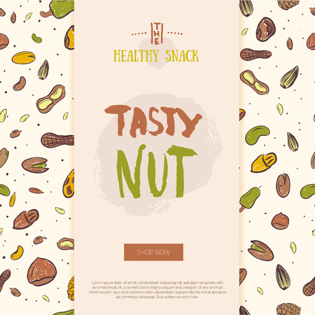 Nut collection modern banner template