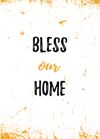 Bless our Home poster design.