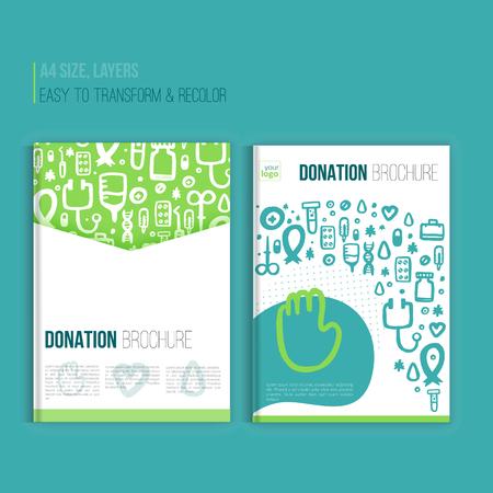 Medical Brochure template. Vector hospital banner abstract grunge geometric background. Vector hospital flyer, magazine.