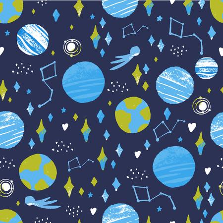 Space cosmic design on dark