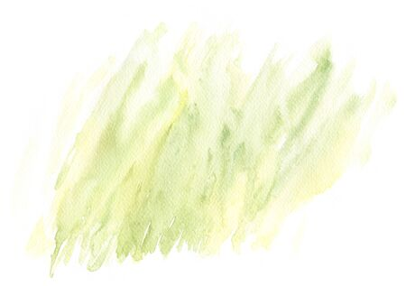 Abstract Watercolor stain. Hand drawn texture. Green paint