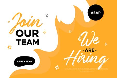 Join Our team banner design. Work poster. Çizim