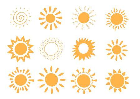 Sunshine summer concept. Abstract warm shape