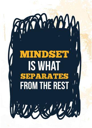 Mindset vector quote. Success quotation.