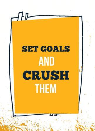 Set Goals success vector quote. Inspirational quote. Ilustrace