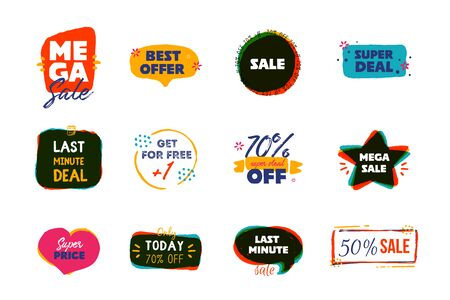 Modern Last minute deal grunge label, promo banner with circle, star background. Price tag badge